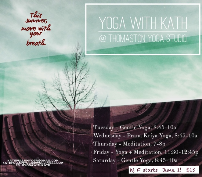 thomaston yoga studio with kathleen summer teaching schedule maine