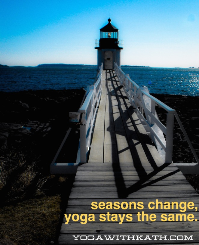 lighthouse yoga maine meditation autumn om
