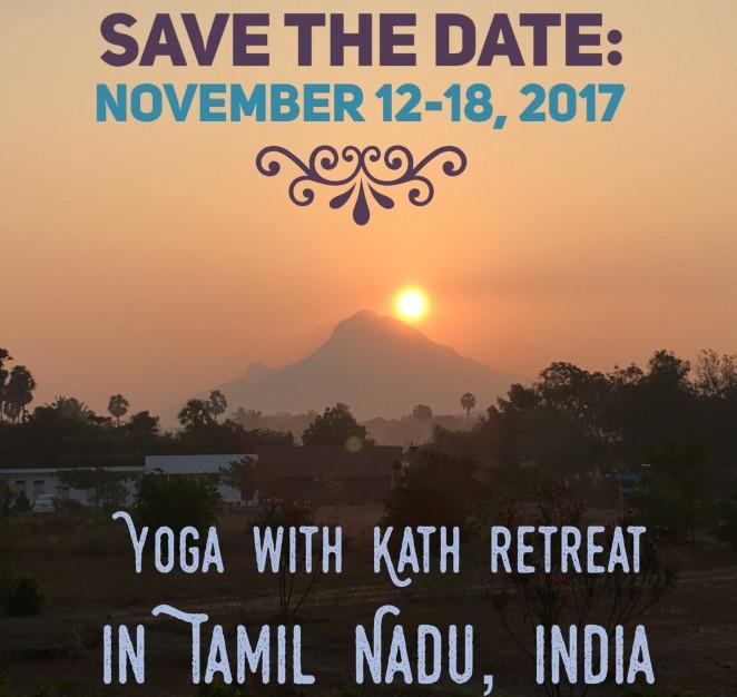 yoga with kath retreat india ashok tree meditation tiruvannamalai tamil nadu