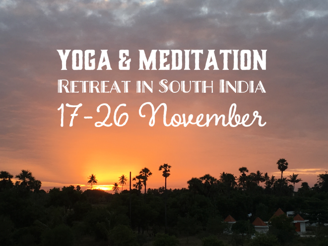 yoga retreat november ashok tree india tamil nadu meditation kriya